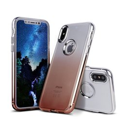 Wholesale Transparent Cell Phones For Sale - hot sale cell phone case ultra thin tpu pc hybrid metallic buttons color changing transparent back cover case for iphone X