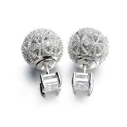 Mother s day earrings online-I più venduti Retro Hollow Ball Double Sided Studs Orecchini per le donne Gioielli Accessori moda Regalo per la festa della mamma