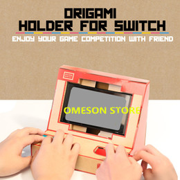 Wholesale Games Stands - Foldable Stand Origami Labo DIY Cardboard Creations Game Holder Kit Toys for NS Switch Paper Arcade Bracket