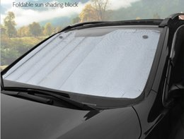 Wholesale Front Windshield Sun Shade Visor - by DHL 50pcs Universal Reflective Car Aluminum foil Windscreen Sunshade Front Window Sun Shade Windshield Visor Cover UV Protect