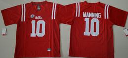 Wholesale Black Rebel - Ole Miss Rebels Eli Manning 10 Men Jersey Alumni Red Mens College Football Jerseys Size S-XXXL