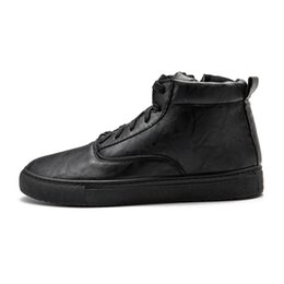 Wholesale fashion russian style - Men Black Ankle Boots 2017 Winter New Russian Style Fashion Casual Lace-UP+Zipper Warm Boots Shoes With Short Fur B03-15