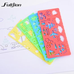 Wholesale Paint Templates - Fulljion 4 pcs Template Ruler Kids Learning Education Drawing Toys Board Painting Tools School Stationery Spirograph Sketchers