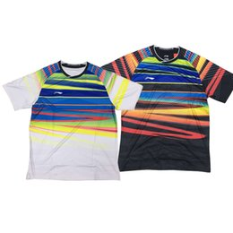 Li-Ning 2017 World бадминтона короткий рукав Джерси рубашки, мужчины женщины конкуренции обучение Athletic тенис Носите рубашки, линь дан AAYM067 AAYM048 от