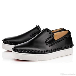 da290e30a79b 2018 Luxurious Brand Spikes Flats Red Bottom Loafers Shoes Sneaker Men  Women Moccasin Shoes Evening Party Dress Walking Boat Shoes 36-46