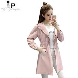 f6c0edc741b Autumn Long Coat Women s Windbreaker Harajuku Plus Size Pink Long Sleeve  Hoodies Trench Coat Women Overcoat Befree Ladies Coats