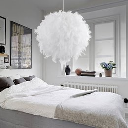 Romantisches Schlafzimmer Licht Anhänger Rabatt Moderne Pendelleuchte  Romantische Traumhafte Feder Droplight Schlafzimmer Hängelampe Lamparas