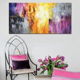 Peint À La Main Art Contemporain Peinture À L'huile Sur Toile Coloré Peintures Abstraites Modern Home Decor Intérieur Art Photo ? partir de fabricateur