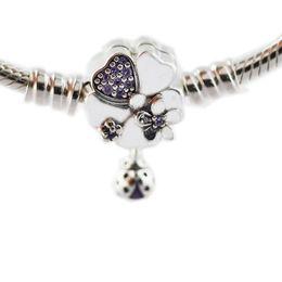 2019 collana di ambra nera Bracciale in argento sterling con chiusura a fiore di prato di fiori selvatici per donna