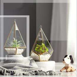 2019 vasi da giardino di approvvigionamento all'ingrosso Fioriera in vetro Moss carnoso fiore eterno Bryophyte Basin artigianato creativo Phnom Penh geometrica sala da fiore in vetro
