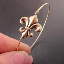 2019 fleur lis jewelry Toute vente Or / argent Fleur Fleur De Lis Bracelet France Paris Mode Beaux Bijoux Vente Chaude YPQ0070 fleur lis jewelry pas cher