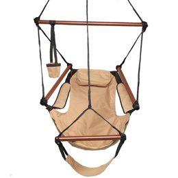 2019 cielo swing Amaca Sedia sospesa Air Deluxe Sky Swing Sedia da esterno in legno massello da 250 libbre marrone cielo swing economici