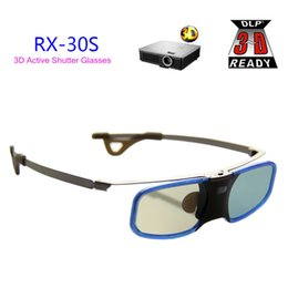 Wholesale Optoma 3d For Glasses - Free Shipping!!3D DLP Projector TV Aluminum Active Shutter Glasses with Clip for Myope For BenQ Optoma Acer LG