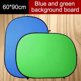 2019 soportes de micrófono led venta al por mayor 60 * 90 CM 2 en 1 Reflector Plegable Pantalla Verde Azul Chromakey Reflector de Luz Fotográfica Estudio Fotográfico Reflector