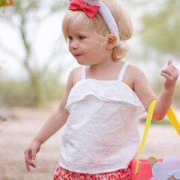 camisetas infantiles sin mangas Rebajas Camiseta para bebés 2018 Ropa de verano para niños Camiseta sin mangas con cuello halter Ropa para niña blanca Sin mangas de niña de bebé Tops Tee Infant Toddler clothing