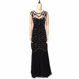 gatsby kleid plus größe Rabatt Pailletten Latin Dance Kleid Große Gatsby Kleid Flapper Mädchen Kleider Plus Size U-Ausschnitt Sleevless Langer Rock Party Minikleider