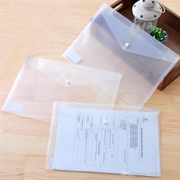 suporte para pasta de arquivo a4 Desconto Atacado Pasta De Arquivo A4 Transparente De Plástico Saco De Documento Ferrolho Botão de Armazenamento De Artigos De Papelaria Classificados Saco De Arquivo Titular