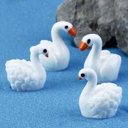piccoli vasi di fiori smaltati Sconti Creativo Del Fumetto Mini Cygnus Giocattoli Ciondolo Muschio Micro Paesaggio Resina Artigianato Decorazione del Giardino Ornamenti Gioielli Carnosa Swan Lovers