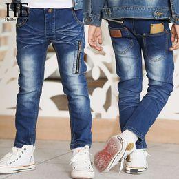Canada HE Bonjour Profitez Enfants Jeans Pour Les Garçons Pantalon Zipper Jeans Maigre Printemps Automne Designer De Haute Qualité Vêtements Pour Enfants Pantalons Y18103008 cheap enjoy style Offre