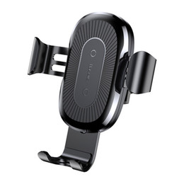 Wholesale Usb Huawei - New Arrival Car Mount Qi Wireless Charger For iPhone X 8 Plus Quick Charge Fast Wireless Charging Pad Car Holder Stand For Huawei