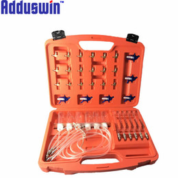 Wholesale Fuel Injector Tools - Adduswin higher Quality Diesel Injector nozzle tester fuel flow meter common rail adapter 24v fuel line diagnostic tool set