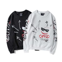 Wholesale Plus Size White Sweater - New Arrival Teenager Hip Hop Plus Cashmere Hoodie Sweater Japanese Retro Cartoon Hoodie Tops Size S-2XL