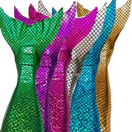 costumes de super-héros féminins pour enfants Promotion Swimmable queue de sirène queue de bikini Top filles enfants shinning echelle natation swimware filles robe cadeau cosplay