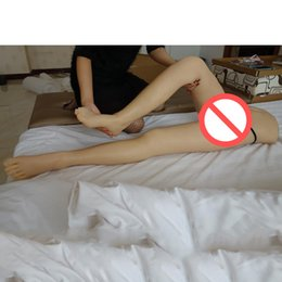 Wholesale Sex Doll Feet - NEW Top quality lifelike silicone legs real silicone feet sex toy metal skeleton sex doll legs vagina real pussy sex products