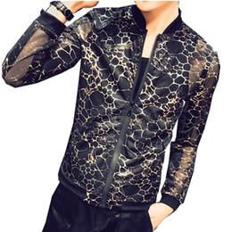 Men Leopard Print Jacket Men Party Club Prom Outfit Transparent See Through  Summer Jacket Thin Sunscreen Chaqueta Hombre 5xl 2e71692f0