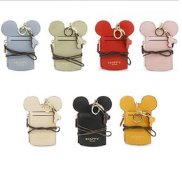 Wholesale Credit Card Purses - ID Badge Holder With Lanyard Office Cartoon Ear Letter Happy Dream Lanyard Neck Strap Card Holder Name Credit Card Purse KKA4299
