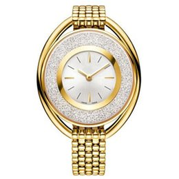 Wholesale Rose Gold Diamond Watch Women - Ultra brand rose gold woman diamond Swan watches 2017 brand luxury nurse ladies dresses female Jewelry buckle wristwatch gifts for girls