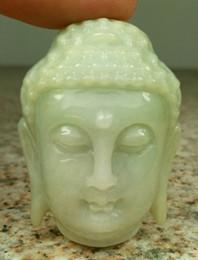 2019 hellgrün jade anhänger gold Certified Light Green Natural Ein Jade Jadeit geschnitzt Anhänger Shakyamuni Gott Kopf rabatt hellgrün jade anhänger gold