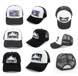 Wholesale quick nets - Fortnite Trucker Cap Hat Game Fans Cool Mesh Caps Summer Breathable Baseball Net Cap Hip Hop Hat for Men Women Outdoor Sun Quick-dry Hat