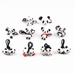 Wholesale panda ornament - GG & MM wholesale children 's jewelry panda three - dimensional hair band hair rope ornaments