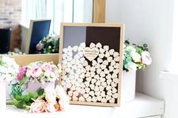 2019 impronta digitale della pittura di nozze personalizzato in legno rustico in legno di nozze inciso alternativa guestbooks cornici di memoria di memoria superiore dei libri degli ospiti firma