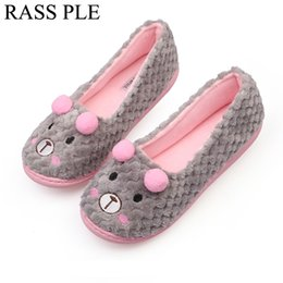 Wholesale Cute Pregnant Women - RASS PLE Soft Plush Cute Home Floor Indoor Slippers Anti-Slip Animal Warm Cotton Slipper Shoes Bedroom House For Pregnant Women