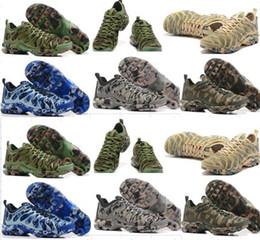 Wholesale Fishing Art - 2018 New Original TN Mens Running Shoes Plus TN Ultra Shoes Sports TN Requin camo shoe Sneakers shoes