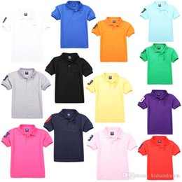 Wholesale Toddler Girl Fall - 2017new autumn fall infant toddler baby girls boys kids polo t shirts embroidery logo pure cotton hight quality SHORT sleeve tees tops