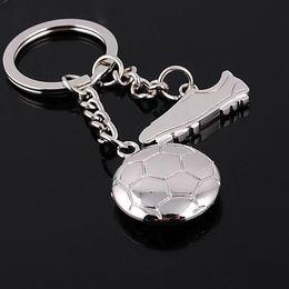 Fußballschuhball online-Förderung Metall Fußballschuhe Keychain Fußball Anhänger Schlüsselanhänger Schlüsselanhänger Mode Mann Frauen Tasche Auto Keyfobs Freies DHL G263G