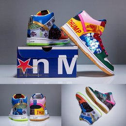 Wholesale Good Basket - Good Quality For Dunk SB High X Thomas Campbell What The Doernbecher Basketball Shoes Multicolor Graffitti Mens Women Sports Sneakers 36-45