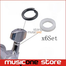 Wholesale Tuning Pegs For Guitar - Wholesale- 6Set Mounting Ferrules Gasket Washers for Guitar Tuning Peg Tuners Machine Heads Replacement