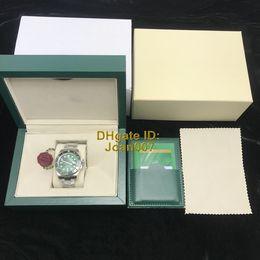 Wholesale brand ss - NOOB V5 2813 Movement Brand Watch Green Ceramic Bezel Sapphire Glass 40mm 116610 116610LN SS Mens Watch Watches New style Original Box