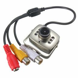 Cableado de cámaras de seguridad online-NUEVO Mini cámara de video CCTV de seguridad de color portátil con cable de vigilancia Videograbador de infrarrojos de visión nocturna videocámara