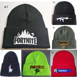 Fortnite Battle Knitted hat Teenager Adult winter Hats Knitted Beanie hat warm soft Caps Slouchy fahionable Fortnite Hats