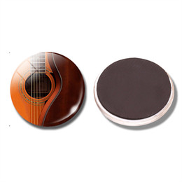 Wholesale Acoustic Guitar Holder - Guitar Music 30 MM Fridge Magnet Acoustic Guitar Art Musician Glass Dome Magnetic Refrigerator Stickers Note Holder Home Decor