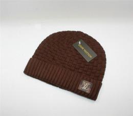 Sombreros de punto online-Diseñador de la marca de moda sombreros de invierno adultos de lujo famosos casquillo de los hombres mujeres invierno mantener caliente casquillo que hace punto de alta calidad