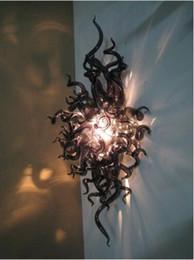 2020 apliques de pared clásicos Venta caliente Arte Classic Pared 100% hecho a mano de cristal de Murano Lámparas de pared para el dormitorio sala de estar lámpara de pared Iluminación apliques de pared clásicos baratos