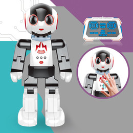 Wholesale Remote Robots - Intelligent robot wireless remote control palm induction speech interactive programmable dancing robot toy.