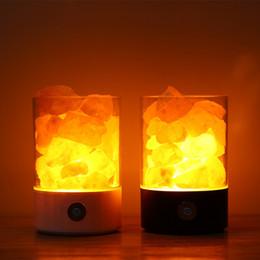 lámparas de sal del himalaya Rebajas USB Crystal Salt Night Light Himalayan Crystal Rock Lámpara de sal Purificador de aire Night Light