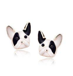 Wholesale Earring Paint - Lovely Earrings For Girls Ladies Enamel Painting Dogs Stud Earrings Ear Studs